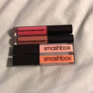 Smashbox and soap & glory lipgloss